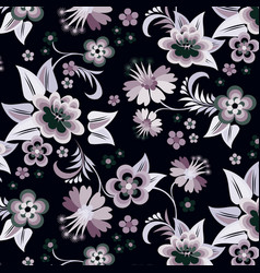 set floral corners on black background vector image