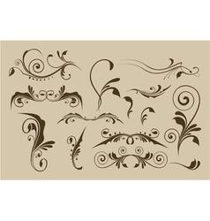 Set of patterns for design vector image vector image
