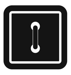 Sewn square button icon simple style vector