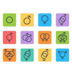 Sexual orientation icons vector image