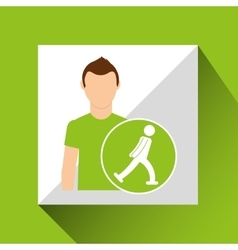 Sport man ice skater concept icon design vector