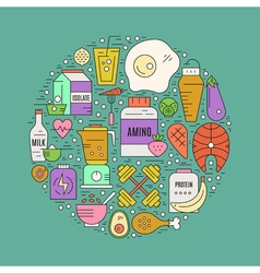 Sport Nutrition Concept vector