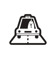 Style black and white icon Cock taxi driver vector