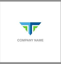 t logo vector image