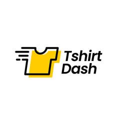 T shirt tee dash fast laundry quick clean digital vector