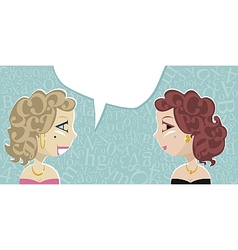 Talking Ladies vector image