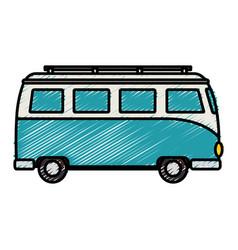 Tourist van isolated icon vector