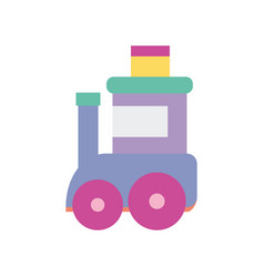 toy kids train wagon on white background vector image