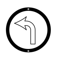 Turn left arrow traffic signal icon vector