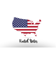 United states america usa country flag inside map vector