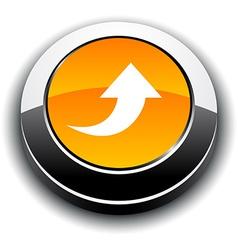 Upload 3d round button vector