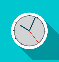 wall clock icon in flat style vector image