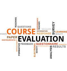 word cloud course evaluation vector image