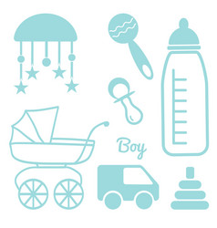 baby and newborn set for a boy vector image
