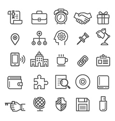 Business element icons vector image vector image