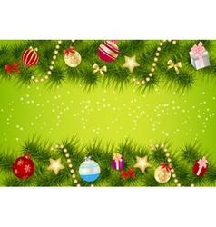 Elegant Christmas banner background vector image vector image