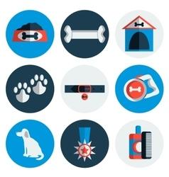 Flat Dog icons vector image