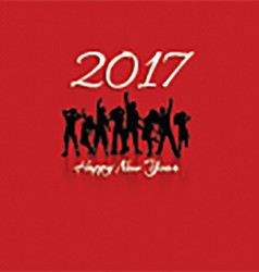 happy new year party background 1711 vector image vector image
