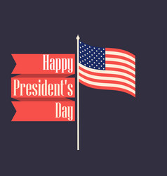 happy presidents day retro banner with american vector image