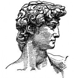 michelangelo david sketch vector image vector image