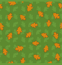 seamless pattern with hand drawn orange leaves on vector image vector image