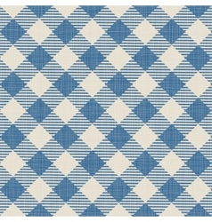 Seamless texture of blue plaid vector image