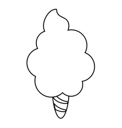 Sweet cotton candy thin line vector
