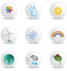 weather white buttons vector image vector image