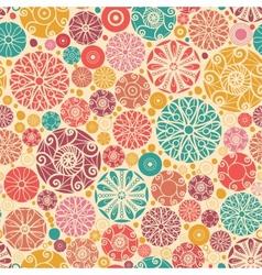 Abstract decorative circles seamless pattern vector image vector image