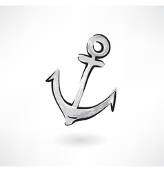 anchor grunge icon vector image vector image