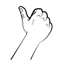 hand male like thumb up signal ok vector image vector image