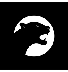 Silhouette of an black panther vector image