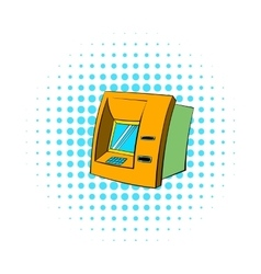 ATM icon comics style vector image vector image