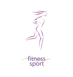 Fitness and sport girl silhouette vector image vector image