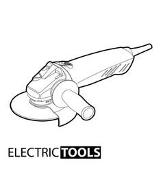 hand cutting machine vector image