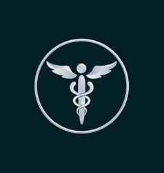 medicine symbol logo icon design vector image