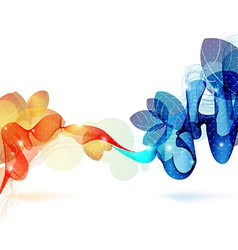 Abstract colorful template background vector image vector image