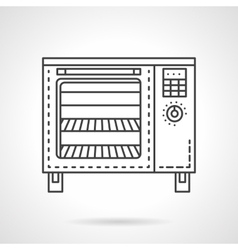 Bakery equipment flat line icon Stove vector image vector image