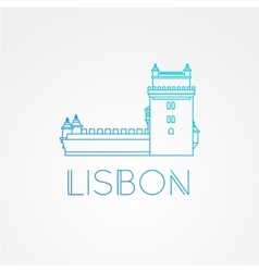 Belem Tower - the symbol of Lisbon Portugal vector image