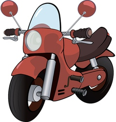 cartoon motorcycle vector image