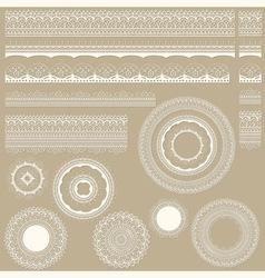 lacy vintage design elements vector image