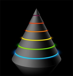 layered cone vector image vector image