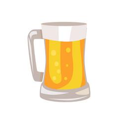 mug of light beer isolated vector image