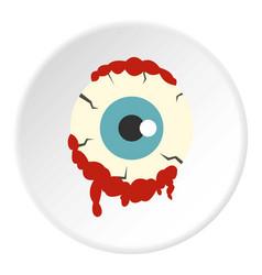 Zombie eyeball icon circle vector