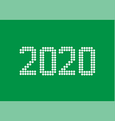 2020 white rounds numbers vector image