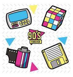 90s forever design vector