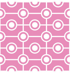 abstract circles seamless geometric pattern vector image