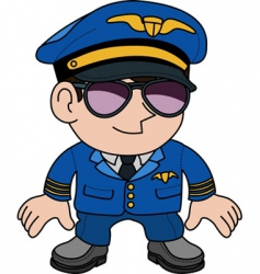 airline pilot vector image