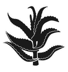 Aloe stem icon simple style vector