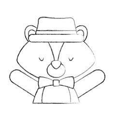 animal squirrel cartoon vector image